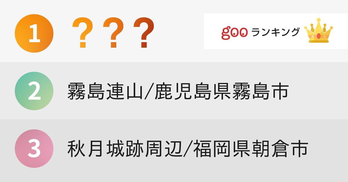 九州エリアの「紅葉スポット」ランキング1位は?