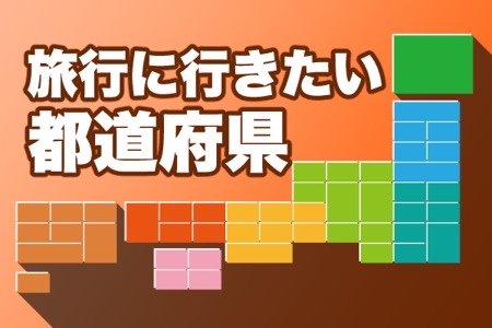 旅行に行きたい!都道府県ランキング