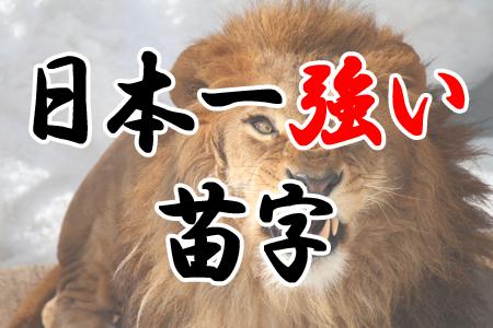 日本一強そうな苗字ランキング