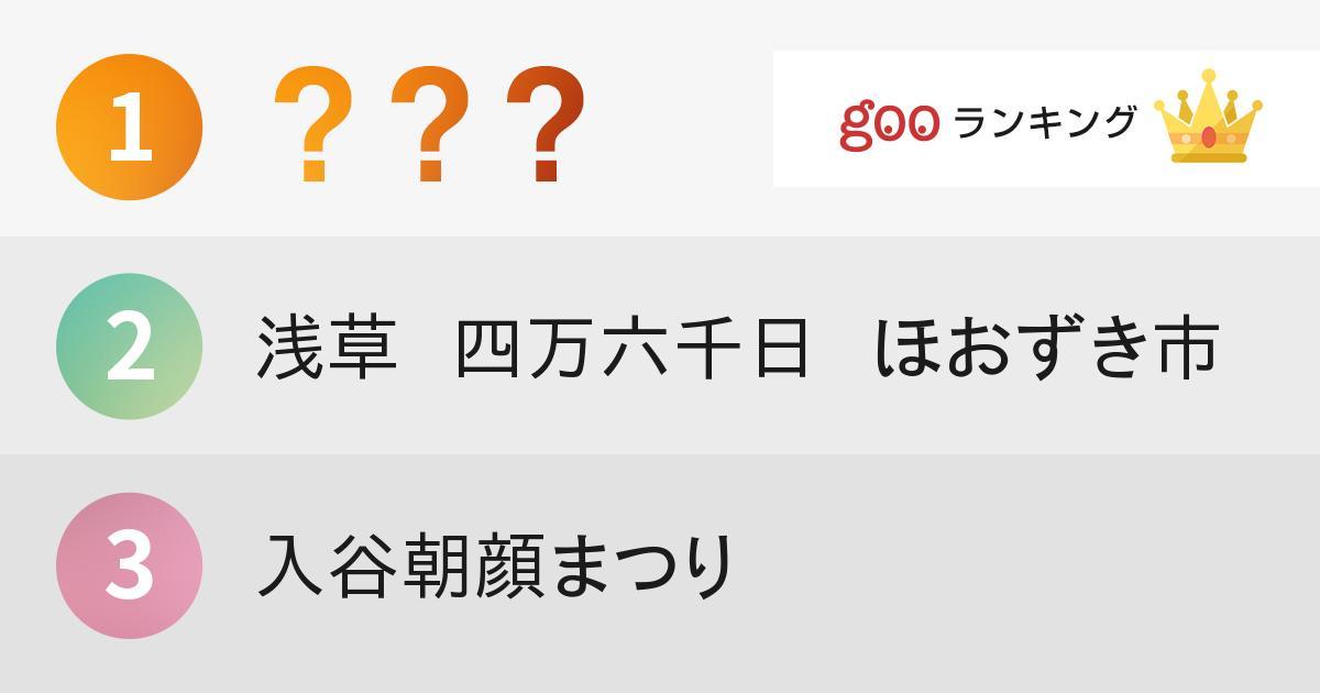 東京で行きたい夏祭りランキング