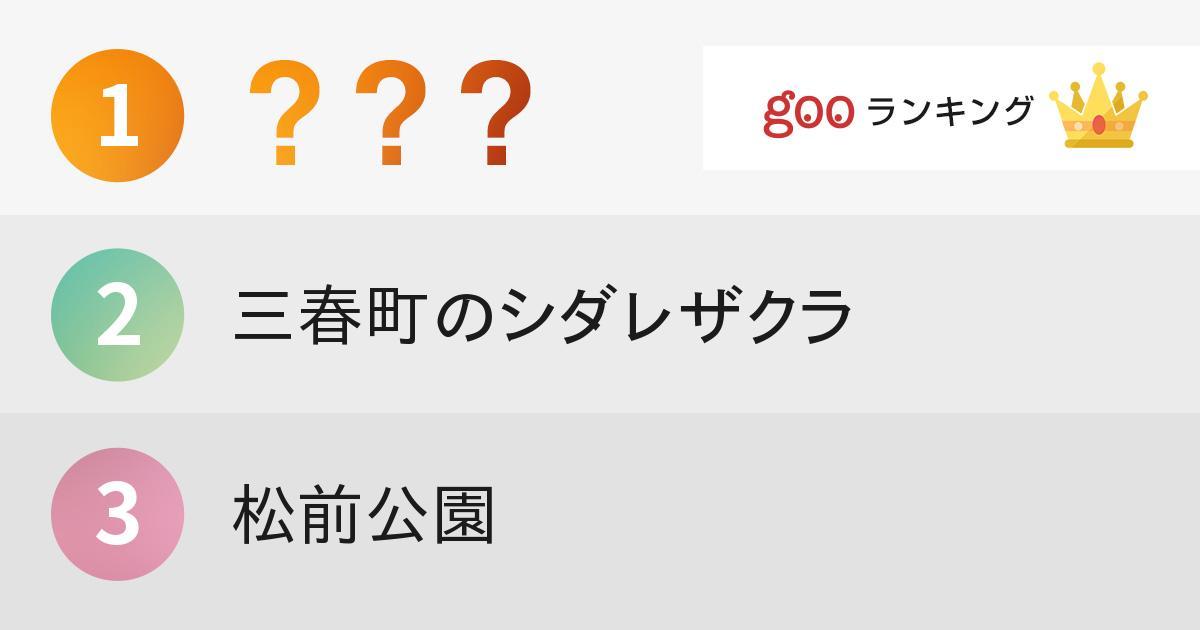 一度は行ってみたい桜の名所(北海道・東北編)ランキング