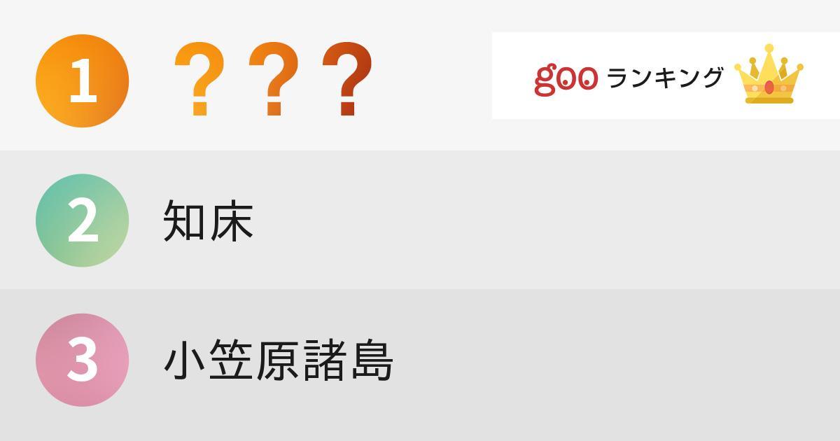 行ってみたい日本国内の世界遺産ランキング